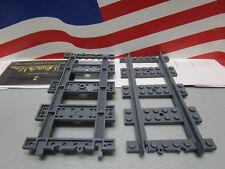 LEGO CITY,HARRY POTTER (2) STRAIGHT TRAIN TRACK DARK BLUISH GRAY PART #53401