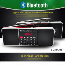 Bluetooth Wireless Speaker Mini Portable Super Bass SD/TF MP3 Player AM/FM Radio