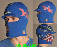 NWT ED HARDY MENS USA EDITION CONVERTIBLE TO A CUFF CAP W/VISOR HAT/FACEMASK