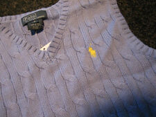 NWT - Boys RALPH LAUREN Blue Cableknit Sweater Vest (Size 4)