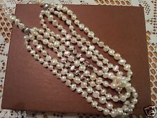 "SILPADA MULTI STRAND ""LAYER CAKE"" PEARLS & STERLING SILVER NECKLACE N2265 NEW"