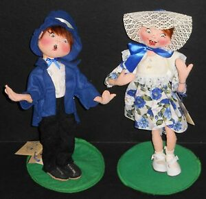 """RARE AND BRAND NEW FROM STORE INVENTORY! ANNALEE 1999 """"JACK AND JILL"""" DOLL PAIR"""