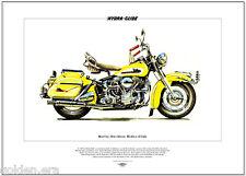 Harley-Davidson hydra-glide - FINE ART PRINT-nous américaine classique cycle moteur