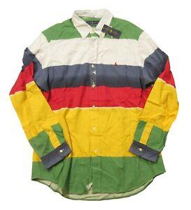 Polo Ralph Lauren Men's Multicolor CP-93 Colorblock Stripe Button Front Shirt
