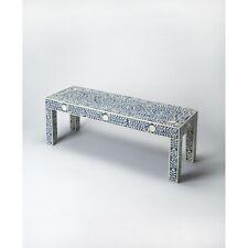 Butler Vivienne Blue Bone Inlay Bench, Blue - 3558319