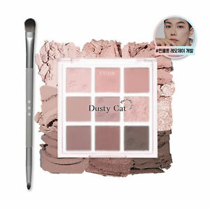 Etude X Leo J Play Color Eyes Dusty Cat 7.2g + Brush Gift  2021NEW K-Beauty
