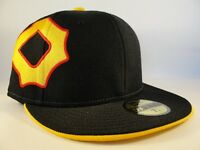Pittsburgh Pirates MLB New Era 59FIFTY Fitted Cap Hat Sidewinger Black Gold
