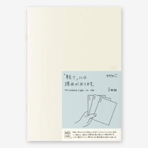 Midori MD Light Notebook - A5 Graph - Pack of 3