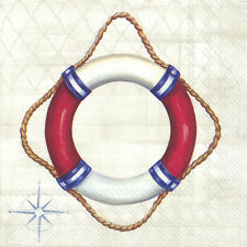 WELCOME ON BOARD life buoy nautical paper table napkins luxury 20 pack 33 cm sq