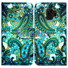 Bcov Green Paisley Pattern Wallet Leather Cover Case For Samsung Galaxy S9