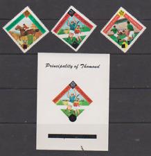 Ireland 1966 World Cup set of 3 Stamps+1 Souvenir Sheet MNH Principality Thomond