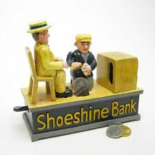 Die-Cast Iron 1920's Style Shoeshine Antique Replica Mechanical Coin Bank