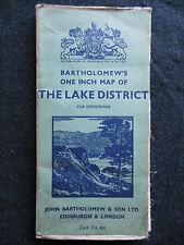 Vintage Bartholomew Folding Map of the Lake District - c1920s - For Pedestrians