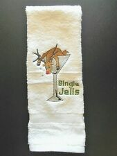 """Bingle Jells"" Christmas Hand Towel (Home Embroidered)"