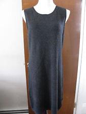 Sutton Studio women's gray cashmere detailed sleeveless dress XLarge