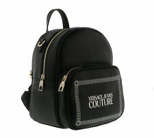 Versace Jeans Couture Chain Strap Black Small Backpack