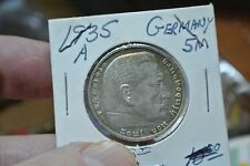 Germany (Third Reich) - 1935 A 5 Marks