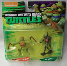 VERY RARE TEENAGE MUTANT NINJA TURTLES TMNT MICHELANGELO KRAANG FIGURE / FIGURES