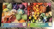 Lot Of 2 Brittany Wright Ceaco Puzzles 300 Pieces With Posters Included