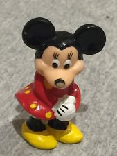 Vintage Minnie Mouse Figurine 1987 1997 Faded Licensing Mark Cute Face