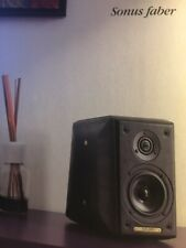 SONUS FABER TOY SPEAKERS Barred Black Leather MADE IN ITALY