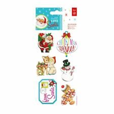 Do-crafts 3D Stickers (6pcs) - Love Santa Love Santa for cards and crafts