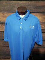 Nike Dri Fit Mens 3XL XXXL Blue White Short Sleeve Golf Polo Shirt