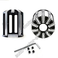 For Harley Davidson Touring Billet Edge Contrast Cut Oil Filter Trim Cover Black