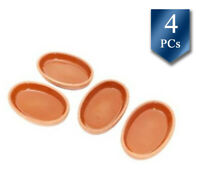 Cooking Clay Pot, Vintage Terracotta Roaster, Ancient Oval Cookware Pan, 4 Pcs