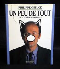 LE CHAT Un peu de tout EO 1992 jaquette Encyclopédie Universelle Geluck TTBE