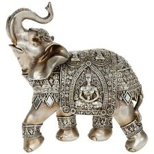 Silver Buddha Elephant Foot Up 22cm Statue Ornament Figurine