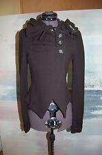 NWT Patrizia Pepe Firenze Black Wool Blend Hooded Short Jacket Size 40 268 Euro