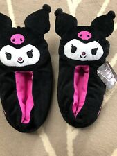 Sanrio KUROMI Indoor slippers medium 7/8 RARE shoes hello kitty kawaii lolita
