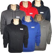 Mens Women Plain Fleece Hooded Top Cotton Branded Sweat Pullover Jumper M to 3XL