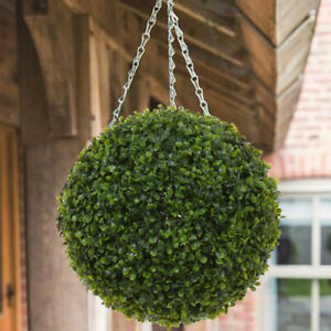 Tree Boxwood Large Topiary 28/38CM Artificial Green Grass Balls Wedding Hanging