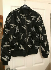BOY LONDON reversible logo bomber jacket Size M medium black coat