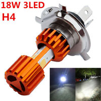 18W Motorcycle Headlight Bulbs Low High Beam Super Bright 3 COB LED Fog Light