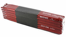12-Pair BRICK VIC FIRTH Nova Red N5BR Red Wood Tip DRUM STICKS Hickory Bulk NEW