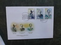 2015 LUXEMBOURG PERSONALITIES SET OF 3 FDC FIRST DAY COVER