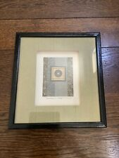Pier 1 Import Asian Series Coin Paper Nina Matsuno Framed Wall Art Vintage 90s