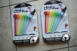 Lot of 2 Dotz Colored Cable Cord Straps Ties DCS301AN  8 Per Package Free Ship