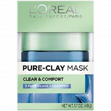 L'Oréal Paris Skincare Pure-Clay Face Mask with Seaweed for Redness and Imperfec