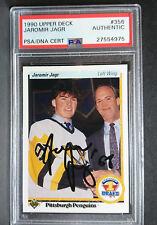 1990 Upper Deck #356 Jaromir Jagr Penguins RC Rookie Signed AUTO PSA/DNA AUTH