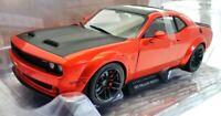 Solido 1/18 Scale Model Car S1805703 - Dodge Challenger R T Widebody - Orange