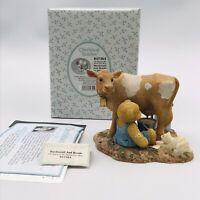 2001 Cherished Teddies Macdonald Bessie Milking Cow Figurine 847364 Hillman