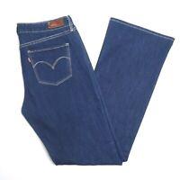 Levis Demi Curve Classic Womens Boot Cut Denim Blue Jeans Size 31