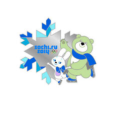 Sochi 2014 XXII Winter Olympic Games Pin Badge Mascots FIGURE SKATING RARE Rio