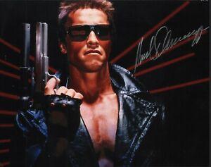 Arnold Schwarzenegger. Signed photo as The Terminator. JSA LOA.