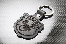 FIAT ABARTH 500 595 Leather Keyring, Keychain, Schlüsselring, Porte-clés TURISMO