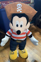 """Disney Mickey Mouse Pirate Greeter Plush Doll 20"""" Tall"""